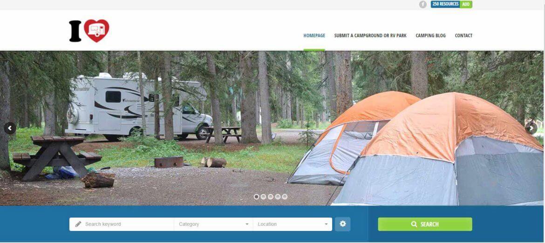 Camping Web Design